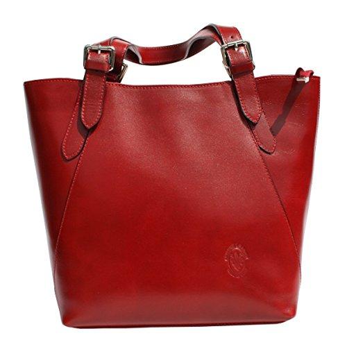 Vera Pelle, Borsa tote donna rosso rosso