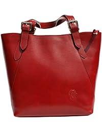 Fashion para mujer Lady bolso de hombro bolso italiano de piel auténtica H013