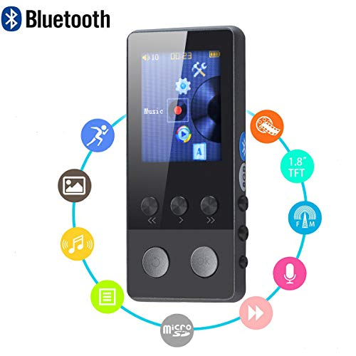 Lychee 8GB Reproductor MP3 MP4 con Bluetooth 4