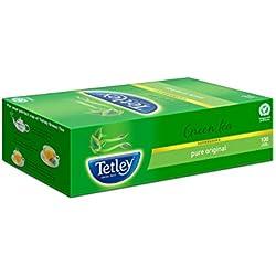 Tetley Green Tea, Regular, 100 Tea Bags