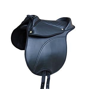 AMKA Pony SHETTY Sattel Reitkissen mit Haltegriff verstellbare Sattelkissen auch für Holzpferd auch für Holzpferde…