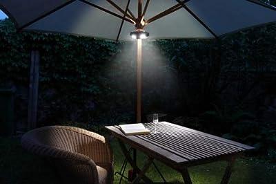 Wetelux LED Sonnenschirm-Lampe mit 40 LEDs