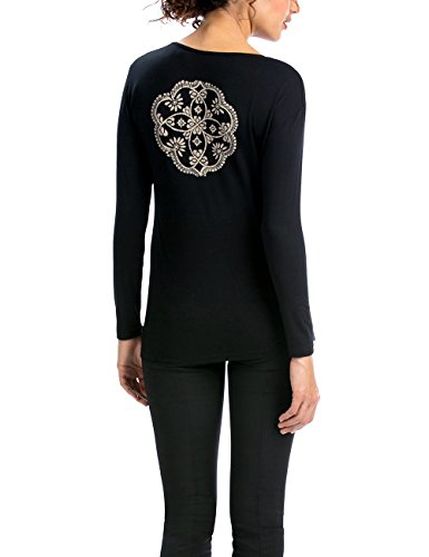 Desigual TS_JOSBO, T-Shirt da Donna, Nero (Negro), 44