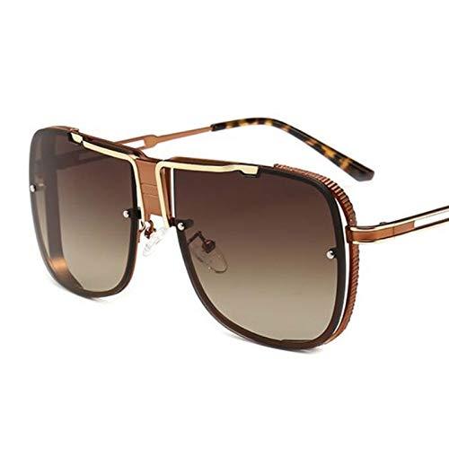 YLYZJH Mens Fashion Sunglasses Mirrored Sun Glasses Metallrahmen Übergroße Klare Schatten Uv400