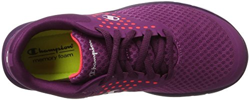 Champion Alpha, Scarpe Running Donna Rosso (Gry/lib - Weinrot/korallrot)