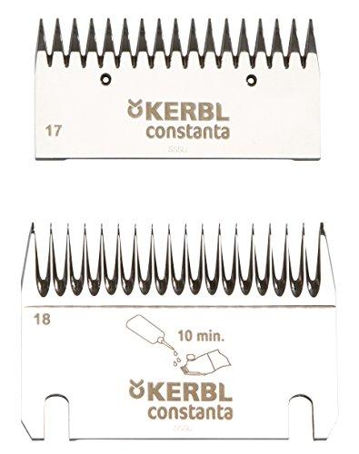 Kerbl 18911 Schermesser Set Constanta 3 plus 4 Fleischrinder, 18/17 Zähne