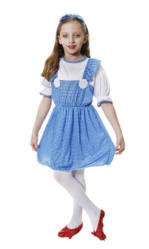 (Kinder Mädchen vom Lande, wie Der Zauberer von Oz Dorothy Kostüm 4-6 Jahre)