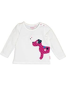 SALT AND PEPPER Baby-Mädchen Langarmshirt B Longsleeve Happy Uni Hund