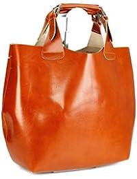 Belli , shoppers femme - Marron - Cognac, 41x32x15 (B x H x T) EU