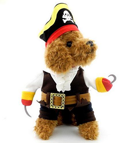 ranphy Pet Hund Katze Kleidung Pirat Kostüm für kleine Hunde/Welpen unter (Unter Halloween Clearance $20 Kostüme)