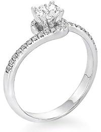 Zertifikat Klassischer 18 Karat (750) Gelbgold Damen - Diamant Ring Round 0.54 Karat K-VS2 (Ringgröße 48-63)