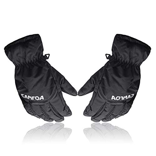 camtoa winter ski gloves 3m thinsulate warm waterproof breathable snow gloves for men and women - l