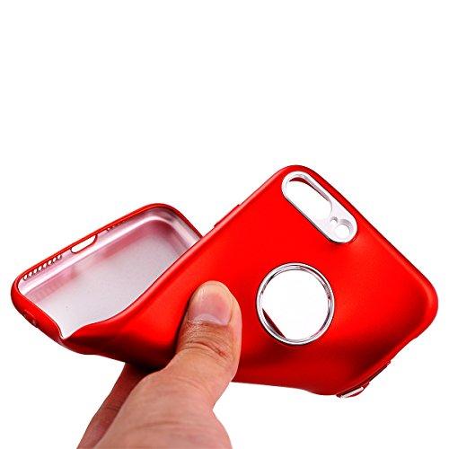 iPhone 8Plus Handyhülle, Funkeln-Glänzend-Serie CLTPY iPhone 7Plus Taschen Gold Plating TPU Schale Case Dünne Crystal Silikon Schutzfall für Apple iPhone 7Plus/8Plus + 1 x Freier Stylus - Chinesisch R Rot A