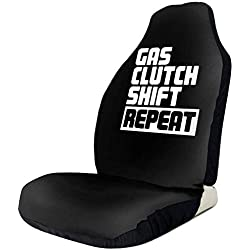 Sports Fan Seat Covers Gas Clutch Shift Repeat Car Front Seat Covers for Women Set of Fit Most Vehicle,Cars,Truck,SUV,Van