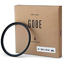 "Gobe Filtro Ultravioleta UV 62mm vidrio Japan Optics"" recubierto con 16 Capas multirresistentes"
