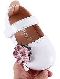 Miyanuby Zapatos para Bebe Niña | Zapatos Princesa Suela de Goma Antideslizante Flor Zapatos de Vestir