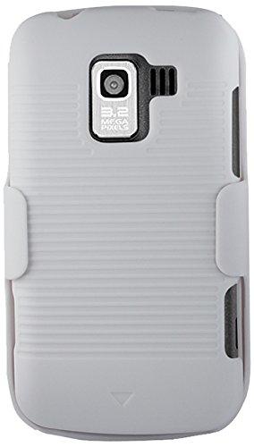 Reiko Schutzhülle für LG Enlighten/Optimus SliderLS700, Weiß Ls700 Combo