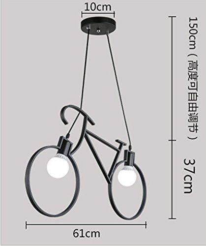 Luckyfree Pendelleuchte Zimmer Bar Cafe Restaurant Küche Flur Lampen Deckenleuchte Kronleuchter Schwarz bike