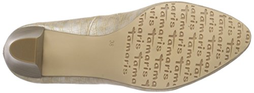 Tamaris 22430, Decolleté chiuse donna Beige (Beige (COPPER STRUCT. 902))