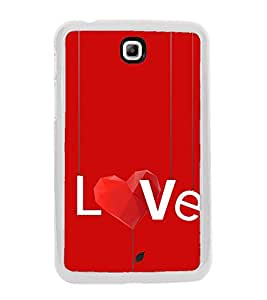Love 2D Hard Polycarbonate Designer Back Case Cover for Samsung Galaxy Tab 3 8.0 Wi-Fi T311/T315, Samsung Galaxy Tab 3 8.0 3G, Samsung Galaxy Tab 3 8.0 LTE