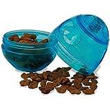 PetSafe Snackball, Funkitty Egg-Cersizer Futterball für Katzen und Kätzchen, Katzenspielzeug blau, gegen Übergewicht, interaktiv für mehr Fitness, für Trockenfutter und Leckerlies, spülmaschinenfest