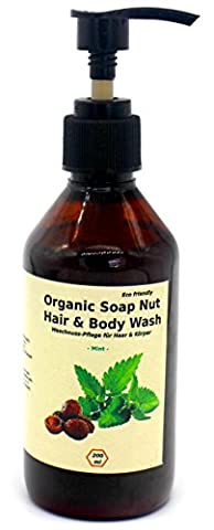 """""""Soap Nut"""" MINT 2-in-1 Herbal Hair Care and Body Wash with Peppermint essential Oil 200 ml 