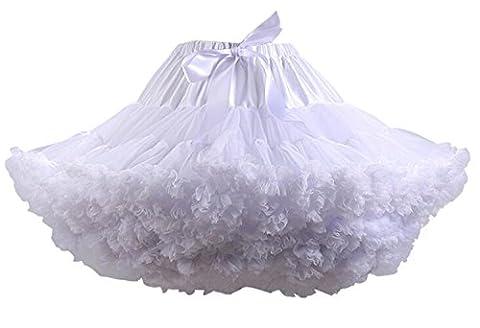 SCFL Adult Luxurious Soft Chiffon Petticoat Tulle Tutu Skirt Women's Tutu Costume Ballet Dance Multi-layer Puffy Skirt