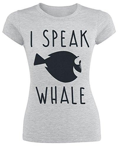 Nemo Tshirt (Unbekannt Findet Nemo I Speak Whale Girl-Shirt Grau Meliert S)