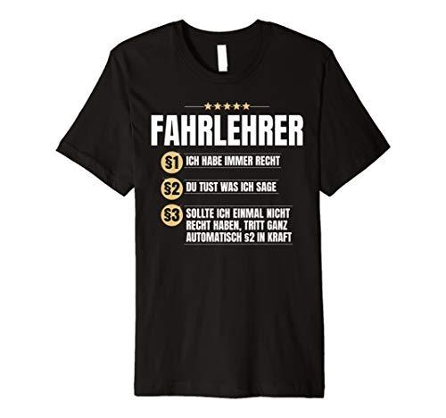 Fahrlehrer Geschenk Lustiges Fahrschule Führerschein Shirt