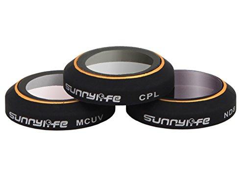 Preisvergleich Produktbild Owoda MCUV / CPL / ND4 / ND8 / ND16 / ND32 Linsenfilter Set für DJI MAVIC PRO Zubehör (3 IN 1 Combo (MCUV+CPL+ND8))