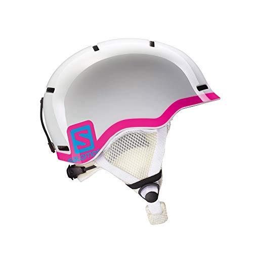 Salomon Grom Casco de esquí y Snowboard para niños, Carcasa In-Mould + Interior de Espuma EPS, Talla M, Circunferencia 53-56 cm, Unisex, Blanco/Rosa, M