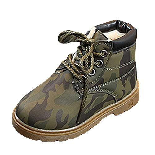 Bottines Fille Enfant ☂☃ Noël Enfants Camouflage Jeunes Filles garçons Hiver Bottes de Neige Bottes Martin Chaussures Chaudes