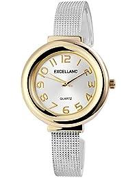 Trend de Wares de mujer reloj de pulsera plata oro analógico de cuarzo metal moderna Mujer Reloj horquillas Reloj Números Arábigos