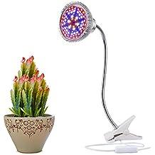 Lámpara LED Grow Plantas de aokey para plantas |wahre 15W Pinza lámpara de escritorio con 360° Cuello flexible para oficina, hogar, invernadero de jardín de Plantas Interior Luz Grow luz Plantas lámpara 2017