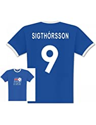 World of Football Player T-Shirt Island Sigthorsson 9 - L