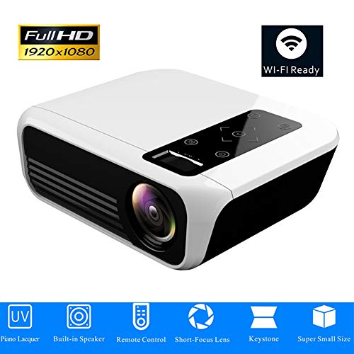 ZXL LED-Projektor 1920 * 1080 Full HD 1080P Android 7.1 3000 Lumen Amlogic S905 2G 16G Proyector Optionales Heimkino von Beame,Androidversion