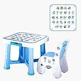 ZY Children's study table and chair Kindertisch und Stuhl Set, Baby Kunststoff Essen Studie Tisch Schreibtisch spieltisch