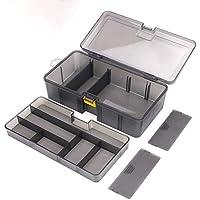 Sanzhileg Caja de Herramientas de Accesorios de Material de señuelo de PP de Sub-Caja de Doble Capa Gruesa - Color de Pistola
