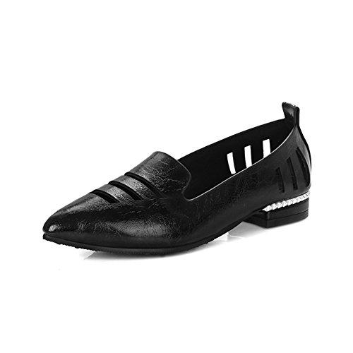 La version coréenne du printemps profondeur dans Astuce et chaussures d'été/brut avec faibles faibles chaussures coupées/Chaussures ajouré/Les souliers C