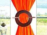 Weihnachts- oder Geburtstagsgeschenk, Dekorativer hölzerner Vorhang Raffhalter, Vorhang Holdback, braune Farbe Runde Einzel Vorhang hängen - 6 Zoll