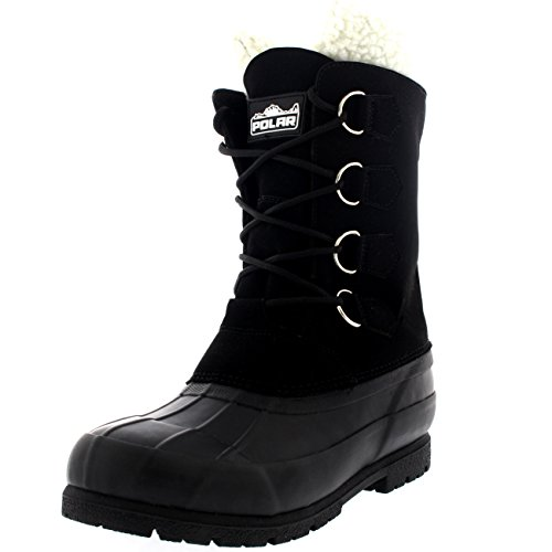 Mens Wool Lined 100% Rubber Duck Sole Waterproof Weather Winter Snow Boot...