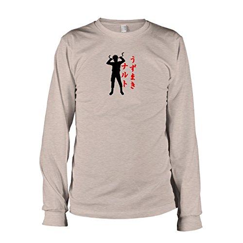 TEXLAB - Leaf Village Ninja - Langarm T-Shirt Graumeliert