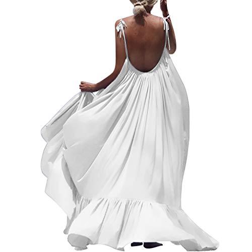 Frauen Ice Silk Sling Lange schulterfrei rückenfrei weiten körper Dress lose Laterne Prinzessin plissee Rock einfarbig -