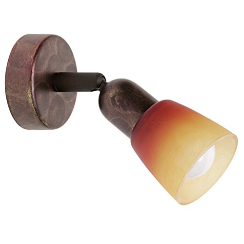 Brilliant Sofia Wandspot, Metall/Glas, E14 max 1 x 40 Watt, altkupfer- rot - orange - alabaster...