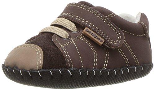 pediped Baby Jungen Jake Sneaker, Braun (Chocolate Choc), 17 EU -