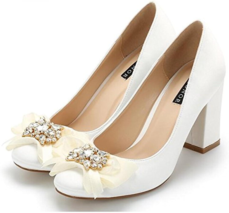 DIMAOL Chaussures Femmes Pour Femmes Chaussures Printemps Automne Soie Talons Talon Confort Décontracté Pour,Blanc,Blanc US5.5/EU36...B07B2Z3GXVParent dd2645