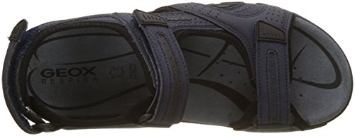 Geox Uomo Uomo Sandalo Strada D Sandali Con Cinturino Blu (blu Navy / Dk Grigio)