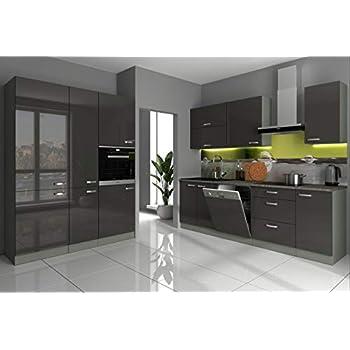 Global Trade Küche L Form Hochglanz 3,40 m x 2,20 ohne E ...
