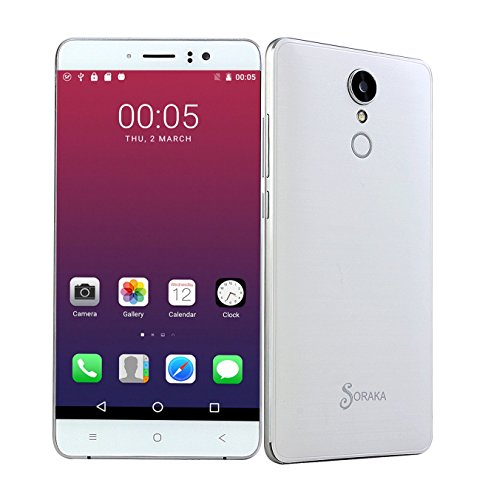 Virgin Mobile Prepaid (SORAKA Unlocked Smartphone 5.5 Zoll GSM 3G Android 5.1 MTK6580 8G Quad Core Handy 5.0MP Dual SIM)