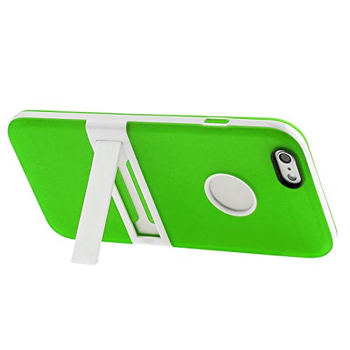 Apple iPhone 6 TPU Gel Case - Blau Apple iPhone 6 Tasche Flip Case Leder Cover Schutz Hülle Etui Schale - thinkmobile Frosted Hülle mit Stand - Grün